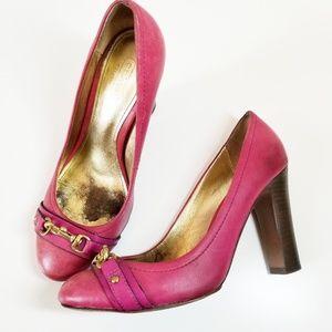 Coach Desaree Ultraviolet Pink Heels Pumps Sz 7.5